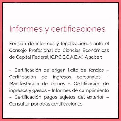 DLC Informes y certificaciones contables